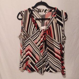 Calvin Klein suits sleeveless stripe top NWT XL
